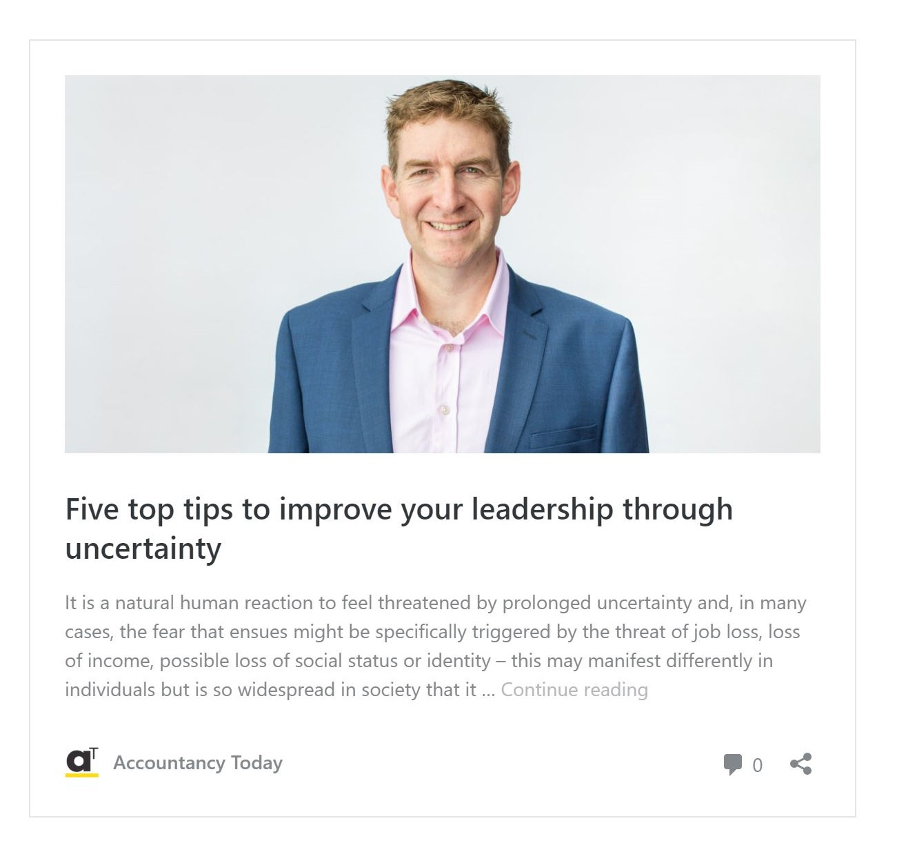 Five top tips to improve your leadership through uncertainty