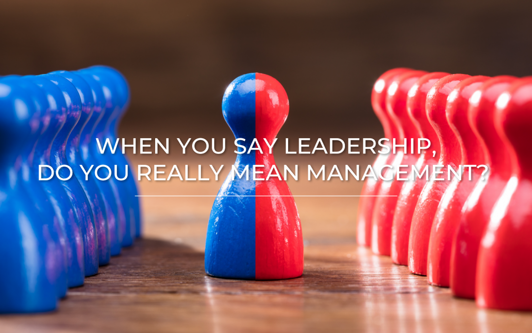 When you say Leadership, do you really mean Management?