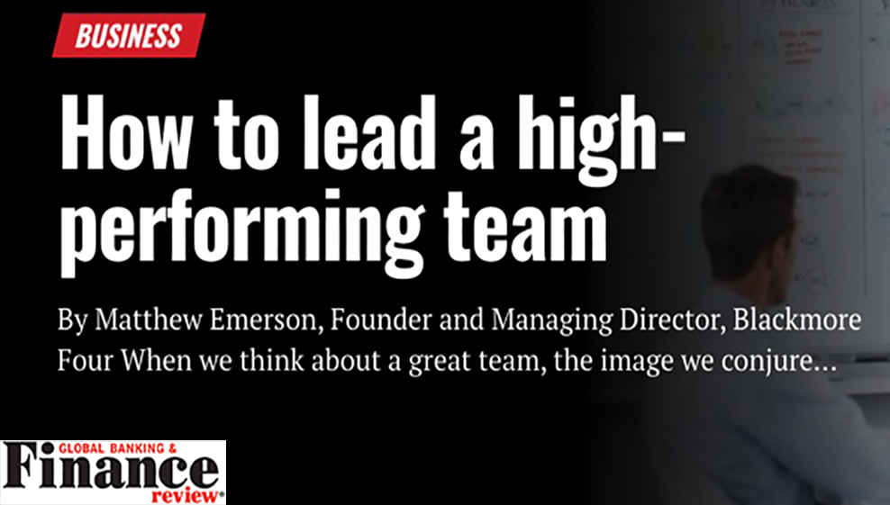 How to lead a high-performing team